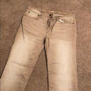 SEXY slim straight faded khaki pants